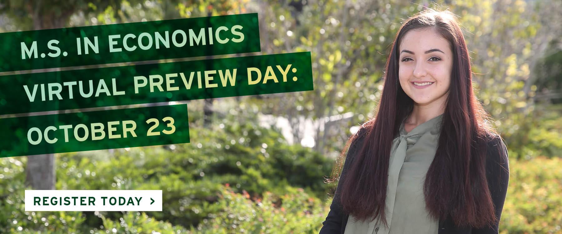 M.S. in Economics Virtual Preview Day
